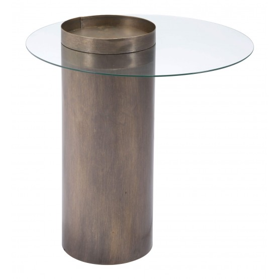 Emi Glass End Table photo