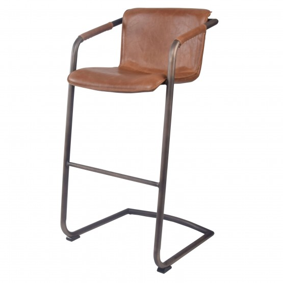 Indy PU/Plywood/Iron Bar Stool photo