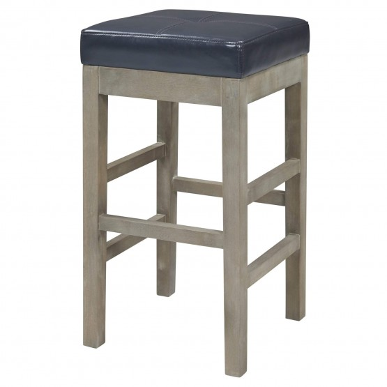 Valencia Bonded Leather/Wood Backless Counter Stool photo