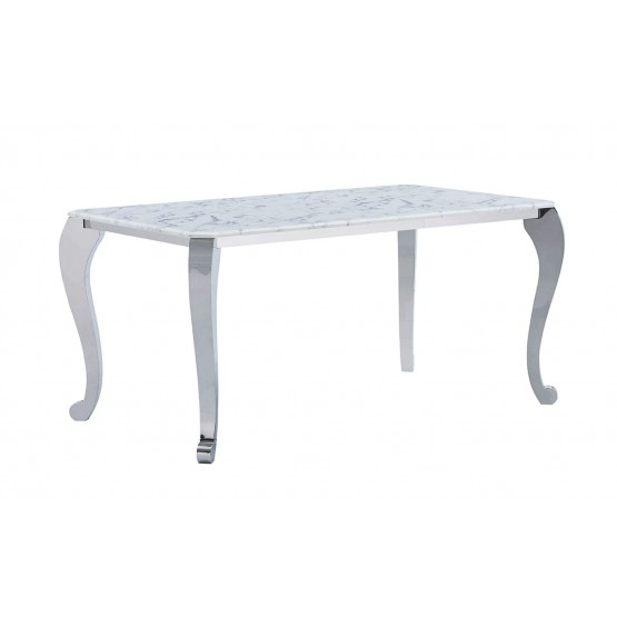 110 Modern Rectangular Marble Dining Table photo