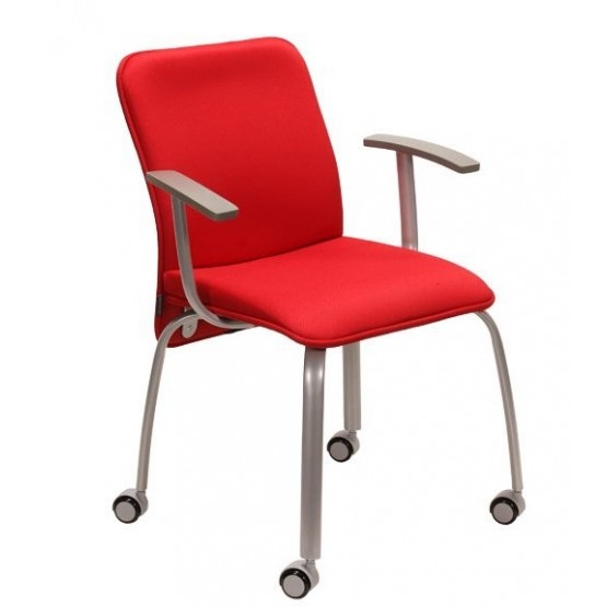 Verso Visitor Armchair, 4-leg Base with Castors photo
