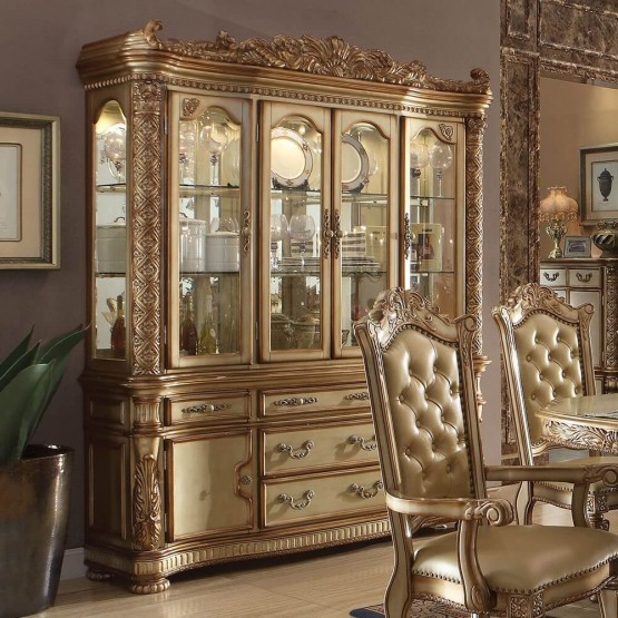 Vendome China Cabinet, Gold Platina photo