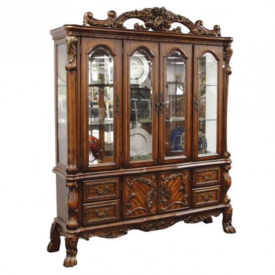Dresden China Cabinet, Cherry Oak photo