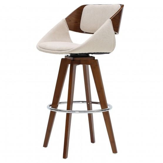 Cyprus KD Fabric/Wood Bar Stool photo