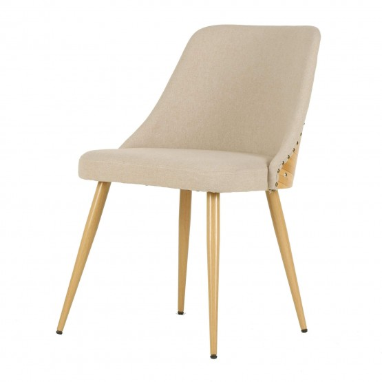 Nala KD Fabric/Bamboo Dining Chair photo