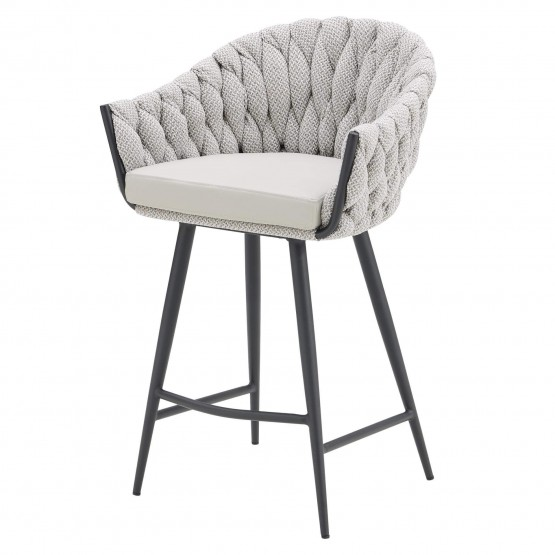 Fabian KD Fabric/PU Counter Stool photo