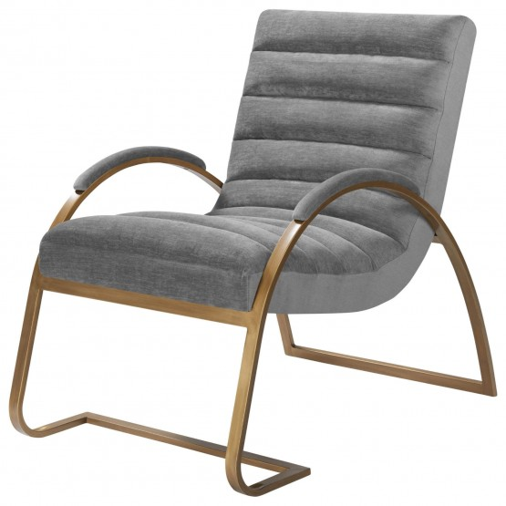 Liam Fabric/Wood/Steel Accent Chair photo