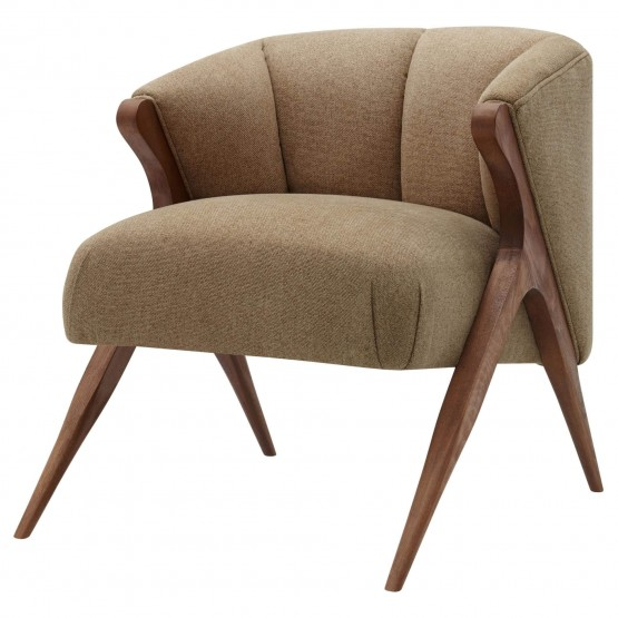 Florence Fabric/Wood Accent Chair photo