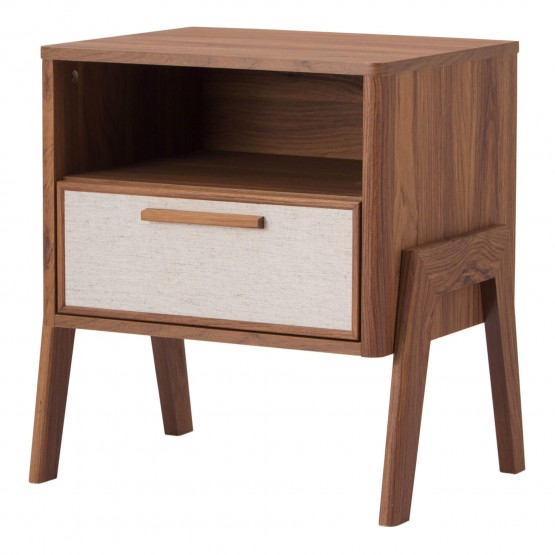 Heaton KD PVC/MDF/Wood Veneer Side Table photo