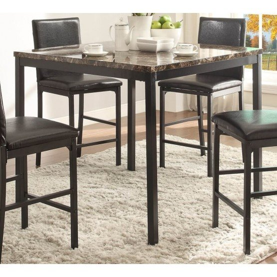 Tempe Transitional Iron Counter Dining Table photo