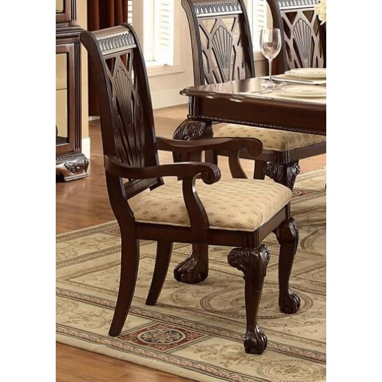 Norwich Leg Classic Fabric Dining Arm Chair photo