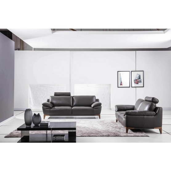 S93 Top Grain Leather Match Living Room Set photo