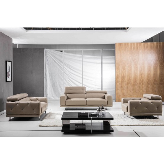 S116 Top Grain Leather Match Living Room Set photo