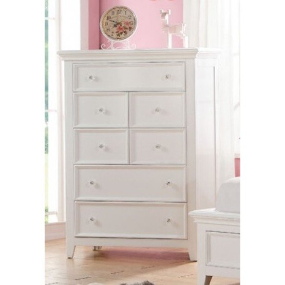 Lacey Youth Chest, White photo