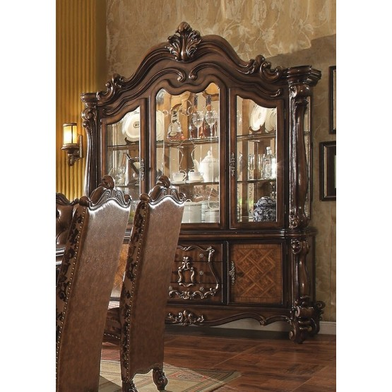 Versailles Wood/Wood Veneer China Cabinet photo