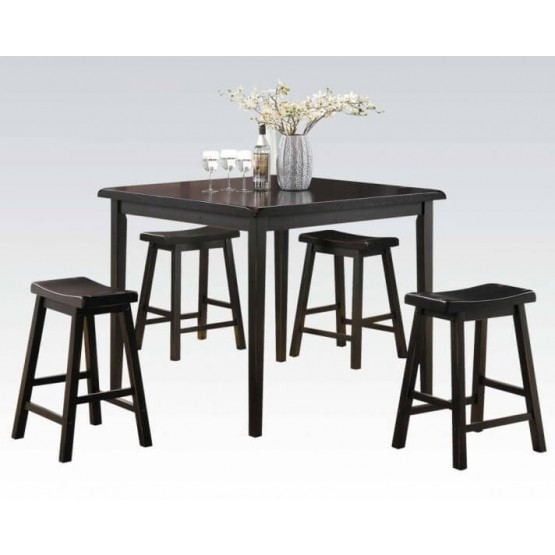 Gaucho Wood Counter Set (Table + 4 Stools) photo