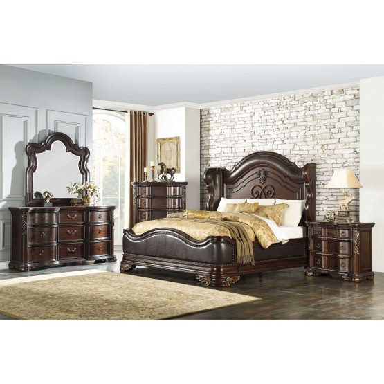 Royal Highlands Wood/Vinyl Panel Bedroom Set