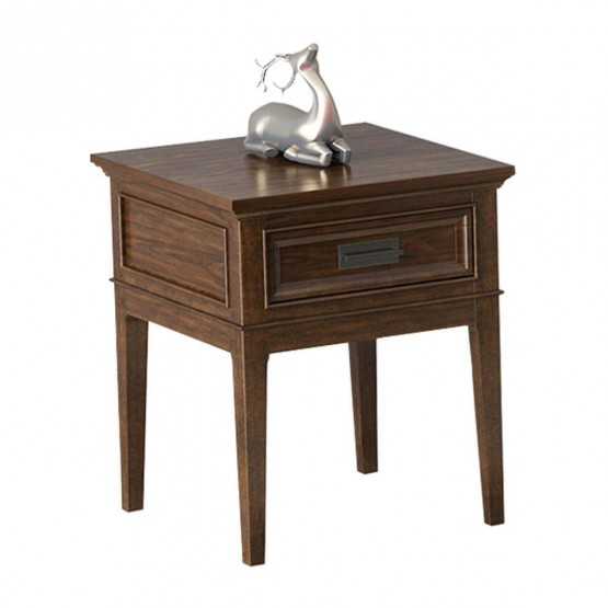 Frazier Park Wood Veneer End Table photo