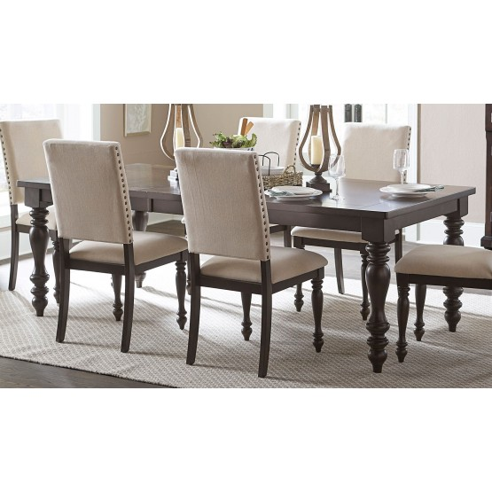 Begonia Transitional Wood Extendable Dining Table photo