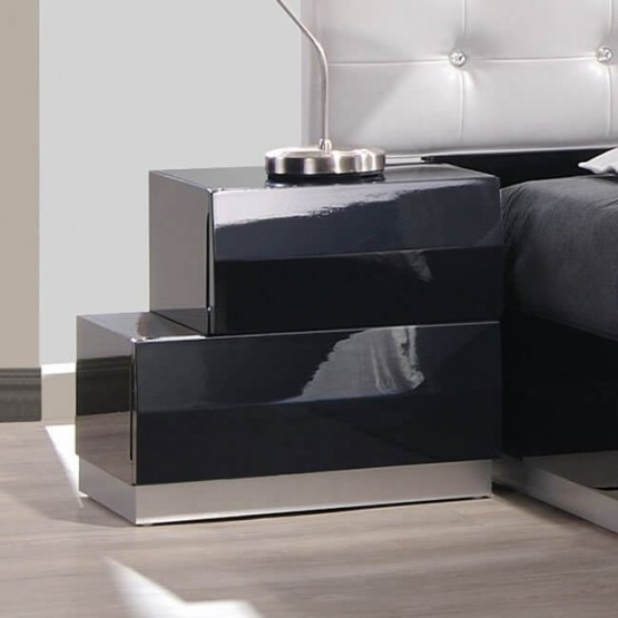 Milan Modern Lacquer Left Nightstand photo