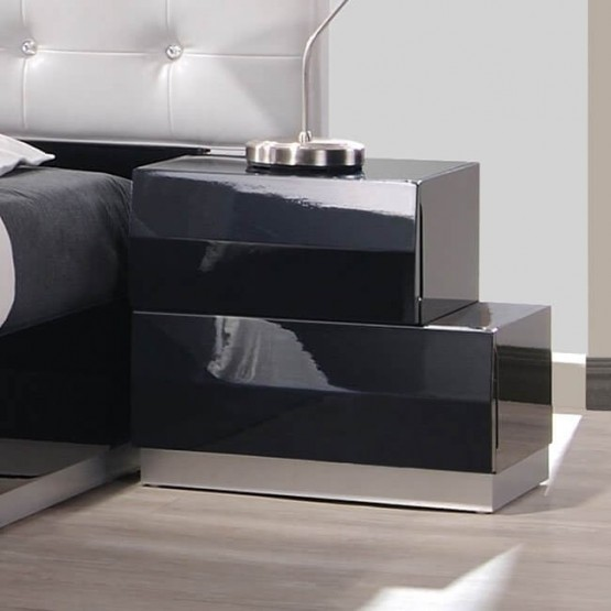 Milan Modern Lacquer Right Nightstand photo