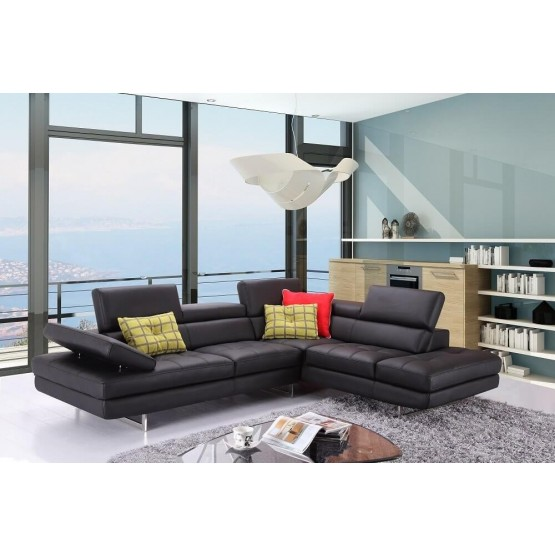 A761 Italian Leather Sectional photo