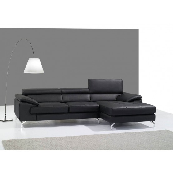 A973B Italian Leather Mini Sectional photo