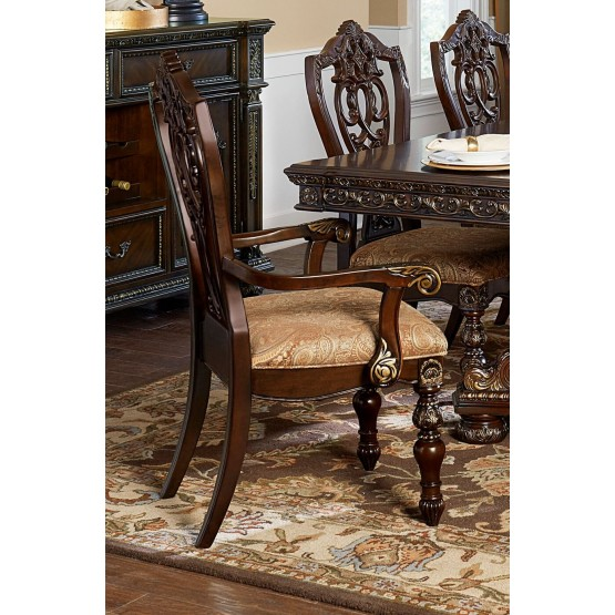 Catalonia Classic Fabric Dining Arm Chair photo