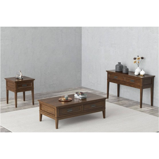 Frazier Park Wood Veneer Occasional Table Set photo