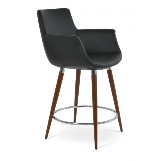 Bottega Arm Ana Leatherette Counter Stool photo