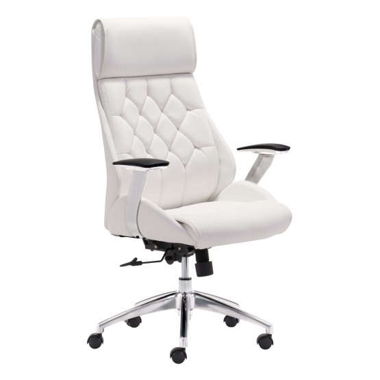 Boutique Tufted Leatherette Adjustable Height Office Chair photo