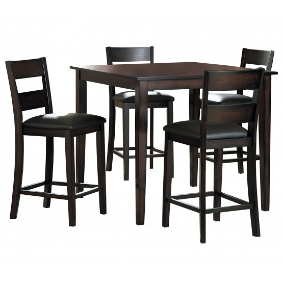 Griffin Transitional Counter Dining Room Set (Table + 5 Chairs) photo