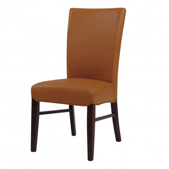 Milton Bonded Leather/Wood Dining Chair, Set of 2 photo