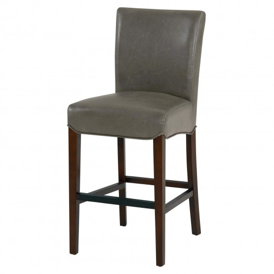 Milton Bonded Leather/Wood Counter Stool photo