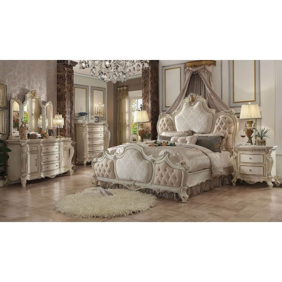 Picardy Wood/Poly Resin Tufted Panel Bedroom Set photo