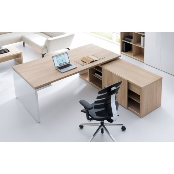Mito L-shape Executive Desk w/Managerial Side Storage photo