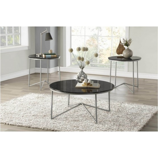 Perivale Faux Marble Occasional Table Set (Coffee Table + 2 End Tables) photo