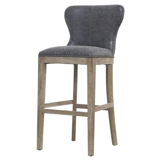 Dorsey PU/Wood Bar Stool photo