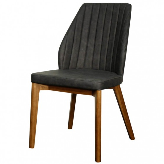 Tory PU Chair, Walnut Legs photo