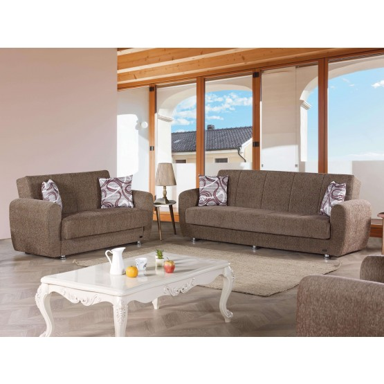 Colorado Fabric Storage Living Room Set photo