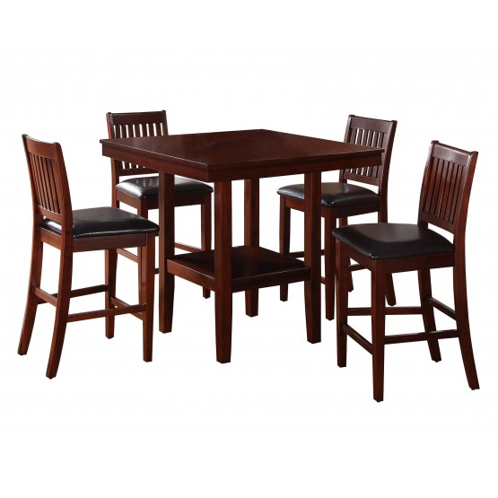 Galena Transitional Counter Dining Room Set (Table + 4 Chairs) photo