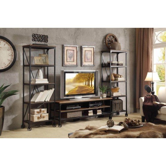 Millwood Wood Veneer/Metal Entertainment Set photo