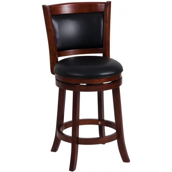 Shapel Transitional Swivel Counter Height Chair w/Cushion Back photo