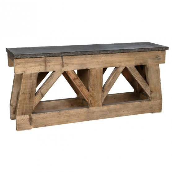 Marbella Wood/Stone Console Table photo