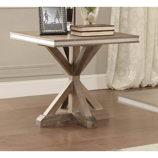 Beaugrand Wood End Table photo
