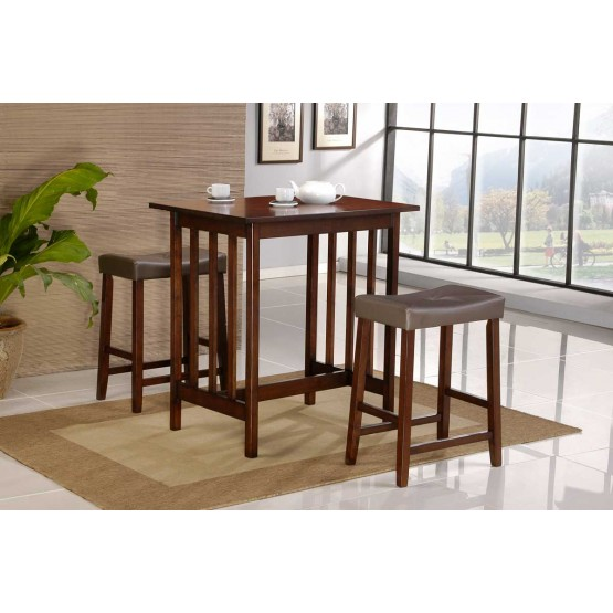 Scottsdale Transitional Counter Dining Room Set (Table + 2 Stools) photo