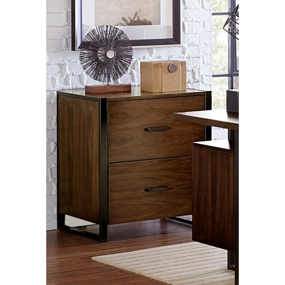 Sedley Transitional Wood File Cabinet photo