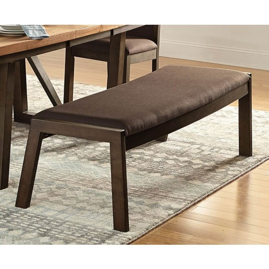 Compson Transitional Fabric/Wood Bench photo