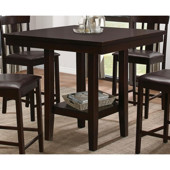 Diego Transitional SquareWood Counter Height Table photo