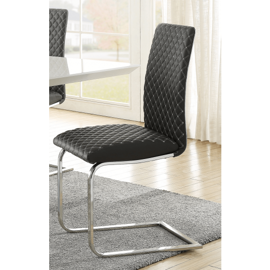 Yannis Contemporary Bi-Cast Vinyl Dining Chair photo